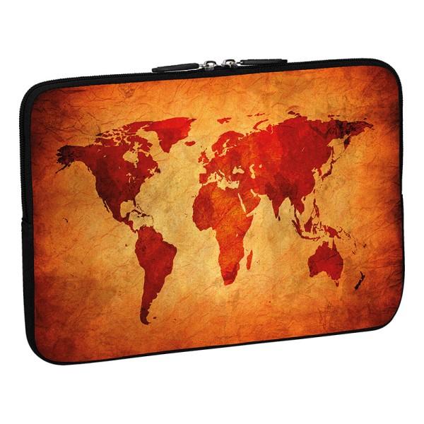 PEDEA Design Schutzhülle: brown global map 15,6