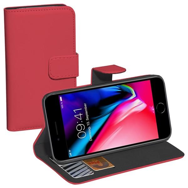 PEDEA Bookstyle für das Apple iPhone 7/8/SE, rot