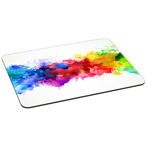 PEDEA Gaming Office Mauspad XL color blob mit vernähten Rändern und rutschfester Unterseite