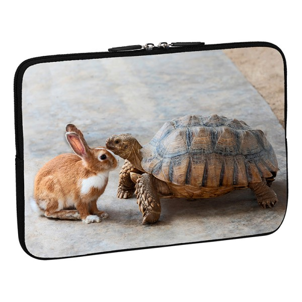 PEDEA Design Tablethülle: rabbit and turtle 10,1