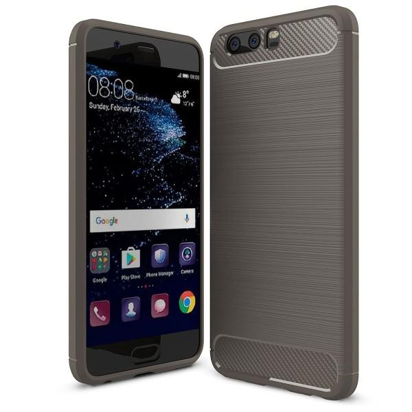 PEDEA Carbon Look Case für das Huawei P10, grau