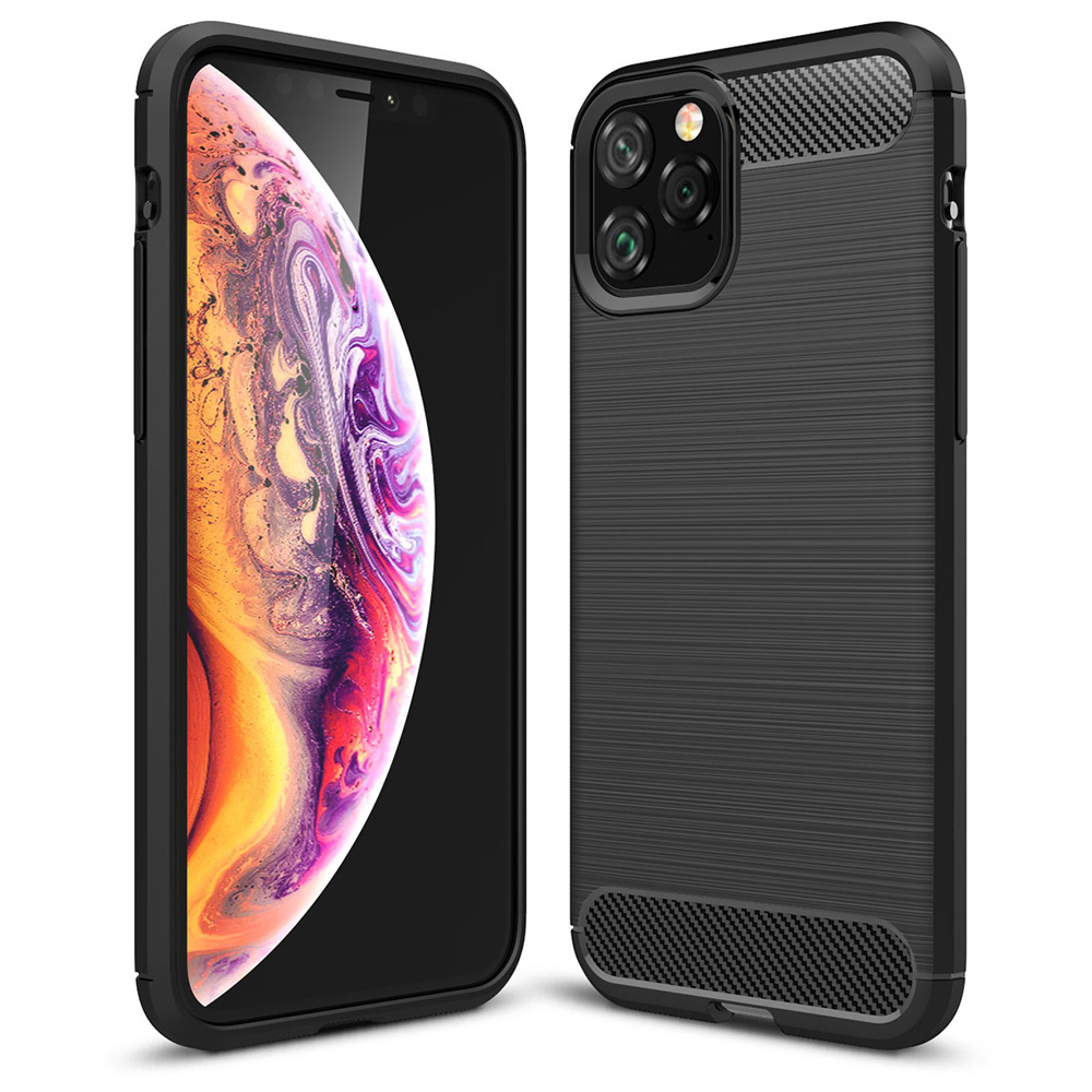 Carbon Look Case Apple iPhone XI, schwarz