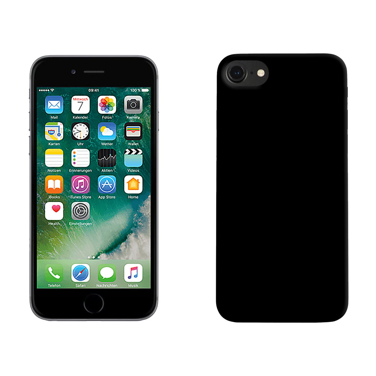 TPU Case Apple iPhone 7, mattschwarz