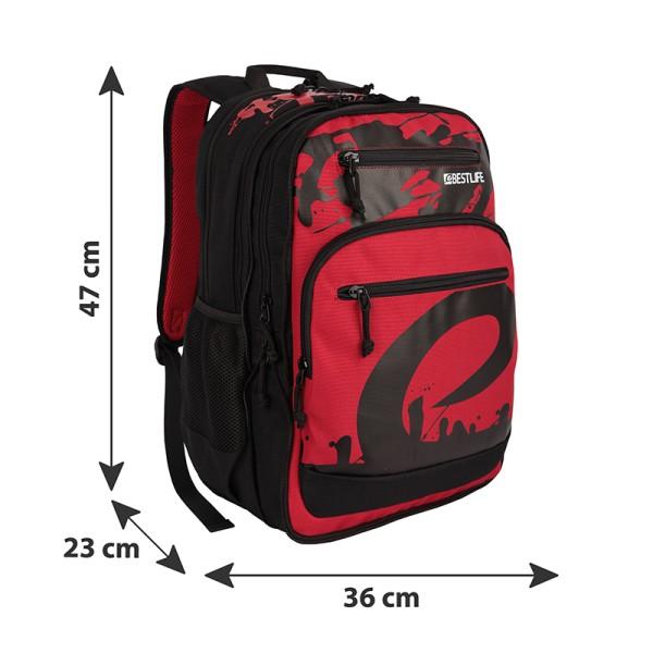 BESTLIFE Rucksack MERX rot, schwarz