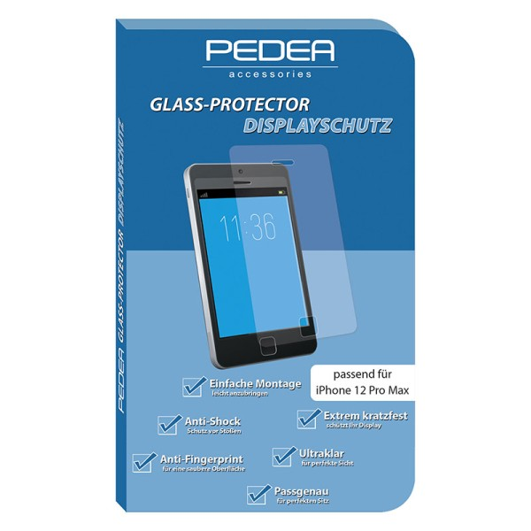 PEDEA Display-Schutzglas Apple iPhone 12 Pro Max