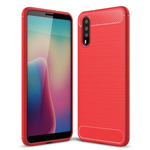 PEDEA Carbon Look Case für das Huawei P20, rot