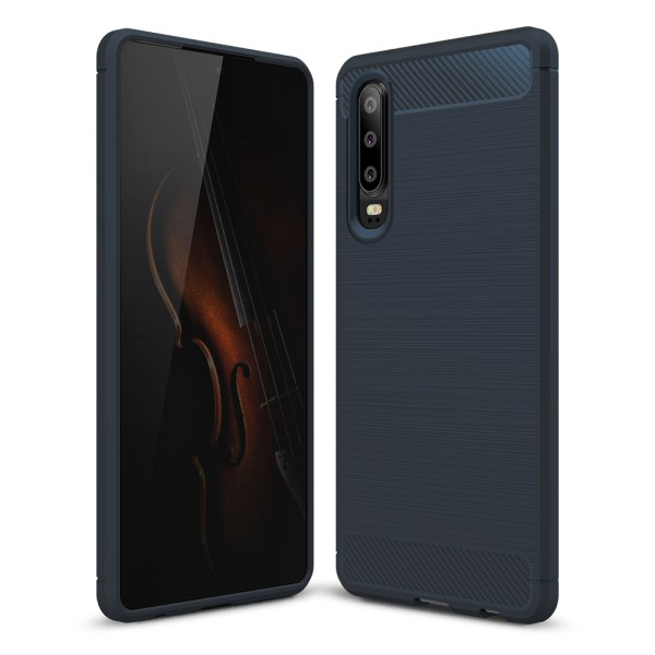 PEDEA Carbon Look Case für das Huawei P30, blau