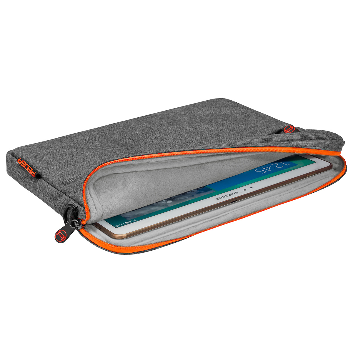 "Tablet-Tasche ""Fashion"" 12,9"" (32,8cm) grau/orange"