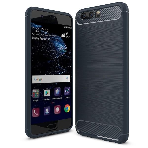 PEDEA Carbon Look Case für das Huawei P10, blau