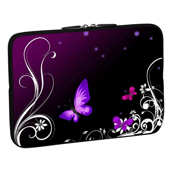PEDEA Design Schutzhülle: purple butterfly 15,6