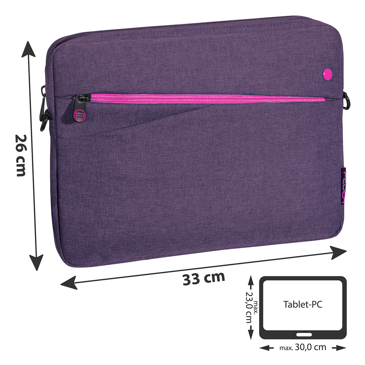 "PEDEA Tablet-Tasche 12,9"" (32,8cm) lila Fashion für iPad Pro / Surface Pro 4 / Galaxy Tab Pro S"