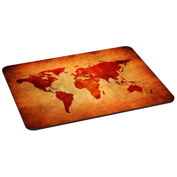 PEDEA Gaming Office Mauspad XL brown global map