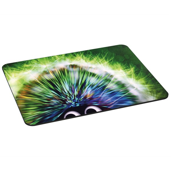 PEDEA Gaming Office Mauspad XL green hedgehog mit vernähten Rändern und rutschfester Unterseite