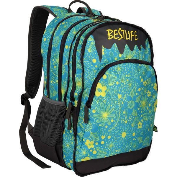 BESTLIFE Rucksack JUST blau, gelb