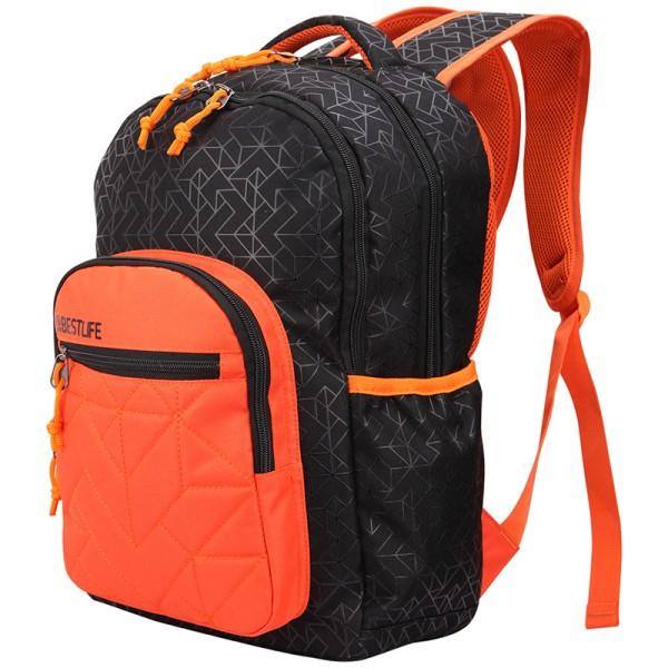 BESTLIFE Rucksack JUST schwarz, orange