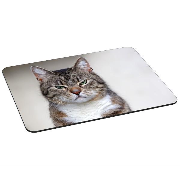PEDEA Gaming Office Mauspad XL cat mit vernähten Rändern und rutschfester Unterseite