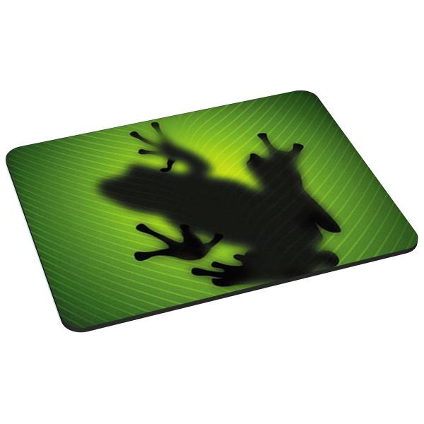 PEDEA Gaming Office Mauspad L green frog mit vernähten Rändern, rutschfester Unterseite