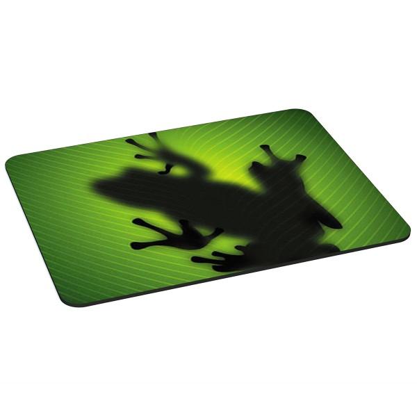 PEDEA Gaming Office Mauspad XL green frog mit vernähten Rändern und rutschfester Unterseite
