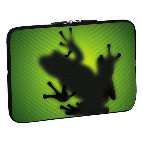 PEDEA Design Schutzhülle: green frog 17,3