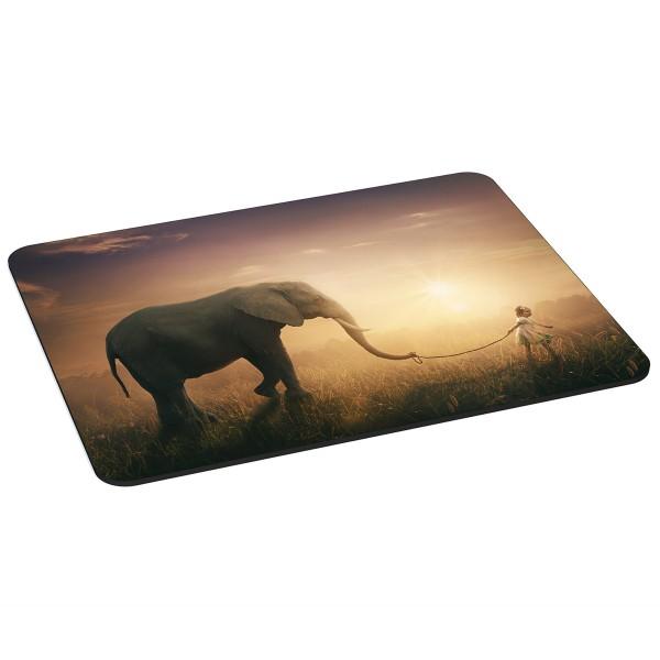 PEDEA Gaming Office Mauspad XL elephant mit vernähten Rändern und rutschfester Unterseite