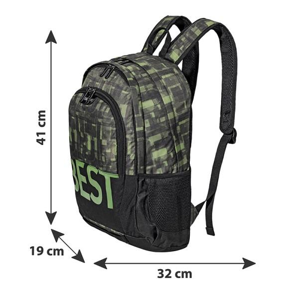 BESTLIFE Rucksack TASKU schwarz, grün
