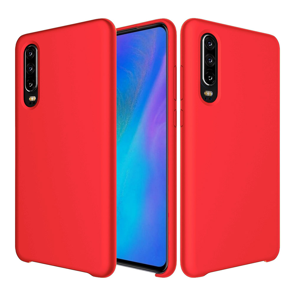 Liquid Silicone Case Huawei P30 Lite, rot