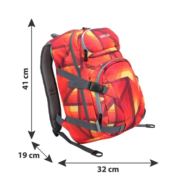 BESTLIFE Rucksack MERX rot, orange